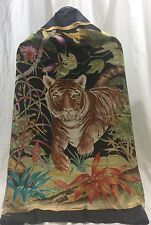 Authentic Women's Gucci Tiger Multicolor Silk Scarf Made In ITALY