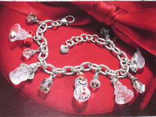BRIGHTON FROSTY HOLIDAY CHARM BRACELET AND LEOPARD POUCH BRAND NEW WITH TAGS