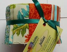 20 X 100% COTTON FABRIC VINTAGE STYLE FLORAL JELLY ROLL QUILTING STRIPS