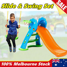 Toddlers Kids Play Slide Swing Set Basketball Hoop Playground Indoor Outdoor