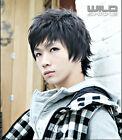 Handsome Boys Wig New Korean Fashion Short Men's Black Hair Cosplay Wigs