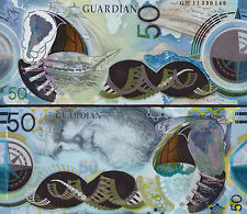 ■■■ 2011 Guardian 50 POLYMER Test Banknote CHARLES DARWIN Securency Amazing ! ■■