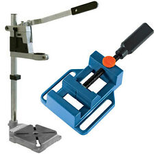 Plunge Power Drilling Stand Pillar Bench Pedestal Clamp With Drill Press Vice