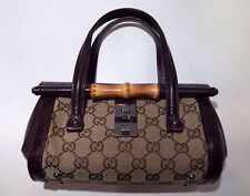 Gucci Mini Bullet Bag Brown Canvas Leather Tom Ford Bamboo