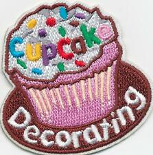 Girl Pink CUPCAKE DECORATING Cup Cake Patches Crests Badges SCOUT GUIDE making