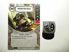 STAR Wars: Destiny RISVEGLI-RARE Speeder Bike Scout #018 + DIE