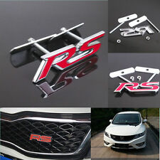 Car Rust-free Metal Alloy Front Grille Grill Badge Emblem Decals RS Logo Sticker