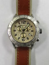 Tommy Bahama Men's Chronograph Watch TB1034 Sterling Silver &Stainless FAST SHIP
