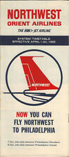 Northwest Orient Airlines system timetable 4/1/65 [306-4]