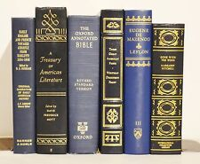 All BLUE & GOLD 6 Large Old Vintage & Modern Books Decor ~ Gone with the Wind