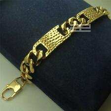 "Men's Cool 14K 14CT Gold Filled GF 14mm Width 9""inch Length Cool Braclet B140"