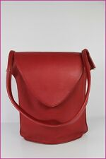 VINTAGE Sac CRISTOBAL TORRES Made in France Cuir Grainé Rouge TBE