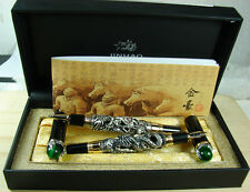 Jinhao Vintage Dragon Playing Pearl Fountain Pen Roller Pen Original Gift Box