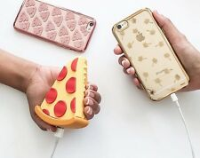 Emoji Funny Portable 2600mAh Battery Pizza Charger Power Bank