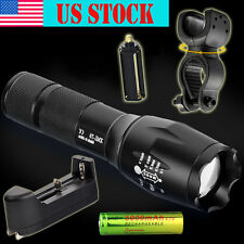 Tactical Police Shadowhawk G700 X800 8000LM LED Flashlight Torch Set Zoom Lamp
