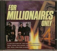 FOR MILLIONAIRES ONLY VOL 4 Various Artists NEW NORTHERN SOUL CD (GOLDMINE) R&B