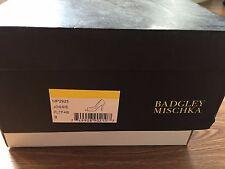 Badgley Mischka Jossie metallic peep-toe pumps size 8