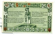 OLD GERMANY EMERGENCY PAPER MONEY - NOTGELD Bramstedt 1920 25 Pf