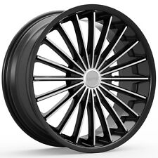 4-NEW KRONIK 406 KUSH 18x8 5x110/5x114.3 +40mm Black/Machined Wheels Rims