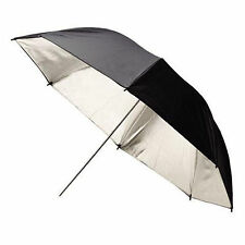 "2 x 33"" Photo Studio Black Silver Reflective Umbrella For Video Lighting Kit"