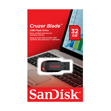 New SanDisk Cruzer Blade 32GB USB Flash Drive, Memory Stick