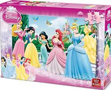 24 Piece Jigsaw Puzzle - THREE DISNEY PRINCESSES Snow White & Cinderella 05160A