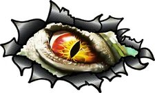Carbon Fibre Fiber Ripped Open Torn Metal Evil Eye Monster Inside car sticker