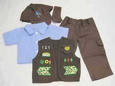Brownie 5 Piece Pants Uniform Set Doll Clothes Fits 18 Inch American Girl