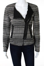 Zara Woman Multi-Color Cotton Long Sleeve Zip Up Crew Neck Coat Size Small