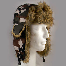 Saddlebred Camo Trapper Hat Adult Camoflage Aviator Hat One Size