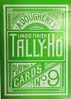 Tally Ho Green Deck Reverse Circle Back Limited Edition Playing Cards