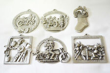 Harley Set Of First 6 Issued Pewter Christmas Ornaments 1988-1983
