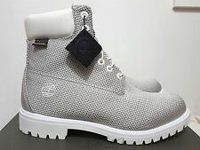 "TIMBERLAND BOOT PREMIUM 6 "" INCH DUPONT KEVLAR WHITE GREY NEW SIZE 8.5 WIDE"