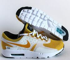 NIKE AIR MAX ZERO QS WHITE-VIVID SULFUR YELLOW-ANTHRACITE SZ 10 [789695-100]