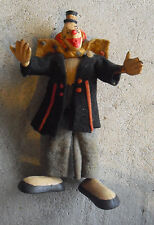 "Vintage 1940s Paramount Germany Bendy Rubber Felt Clown Figurine 6"" Tall"