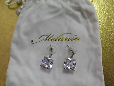 MELANIA TRUMP Silver Cushion and Baguette Cut Simulated Diamond Earrings