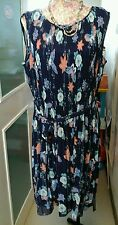 VINTAGE STYLE PLEATED DRESS WITH BUTTERFLY DETAIL MATTHEW WILLIAMSON SIZE 14 NEW
