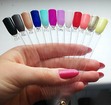 40pcs/Fan Clear Nail Art Polish Manicure Gel Display Tips Stand Practice Tool