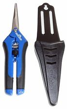 NEW! HYDROFARM HGPP400C Precision Curved Blade Trimmer Scissor Pruner w/ Holster
