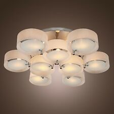 Modern Round Acrylic 9 lights Chandelier Lighting Pendant Fixture Ceiling Light