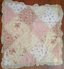 """Shabby Chic French Country Euro Cushion / Pillow Cover Pink Floral 65cm(25.5"""")sq"""