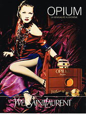 PUBLICITE ADVERTISING 035  1994  OPIUM  parfum femme YVES SAINT LAURENT