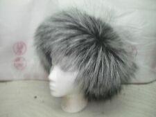 BRAND NEW  SILVER FUR FOX Color HEADBAND made of the finest  SILVER FOX Skins