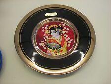 """THE ART OF CHOKIN   5  7/8"""" PLate. 24Kt Gold Trim Japan"""