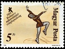 HUNGARY VINTAGE POSTAGE STAMP FIGURE SKATING PHOTO ART PRINT POSTER BMP1679A