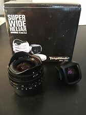 Voigtlander Super Wide Heliar 15mm f/4.5 Aspherical Lens Leica Ltm With Finder