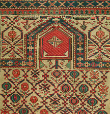 EARLY OLD CAUCASIAN SHIRVAN MARASALI PRAYER  RUG