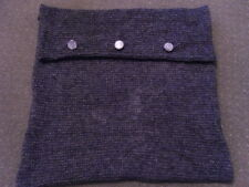 Hand knitted cushion cover