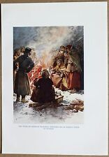 RUSSIA: POOR OF MOSCOW AROUND STREET FIRE; color plate, 1913 (#46)