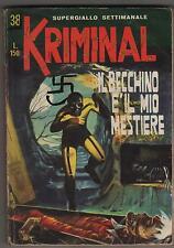KRIMINAL  N.38 IL BECCHINO E' IL MIO MESTIERE corno 1966 magnus & bunker e